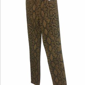 Zara pants animal print